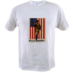 BE A US MARINE T-SHIRT (XL SIZE)