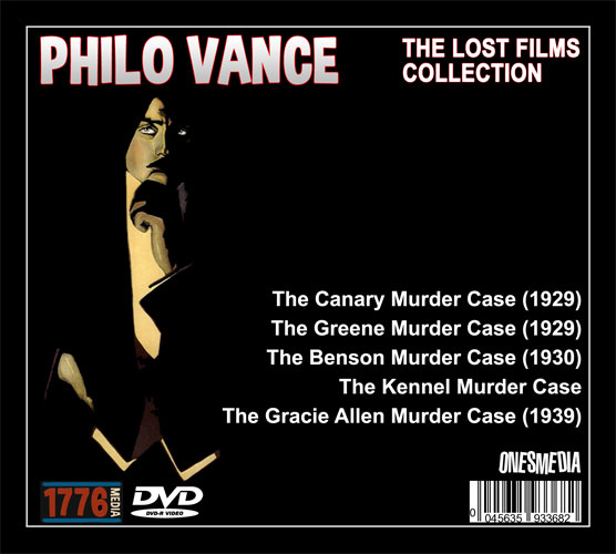 THE PHILO VANCE LOST FILMS COLLECTION