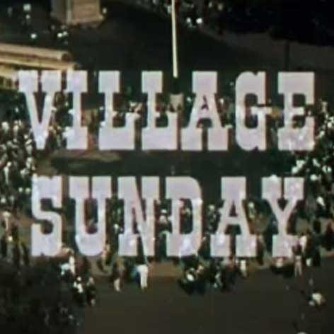 GREENWICH VILLAGE SUNDAY - Narrated by Jean Shepherd