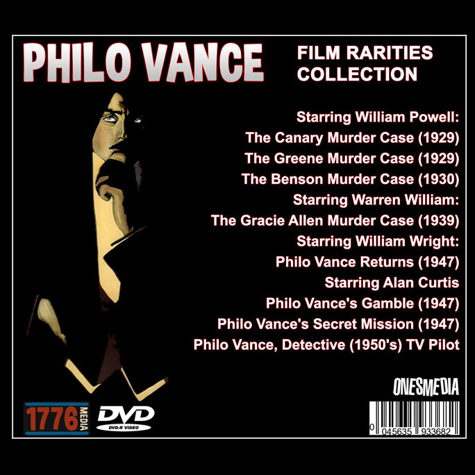 PHILO VANCE FILM RARITIES COLLECTION